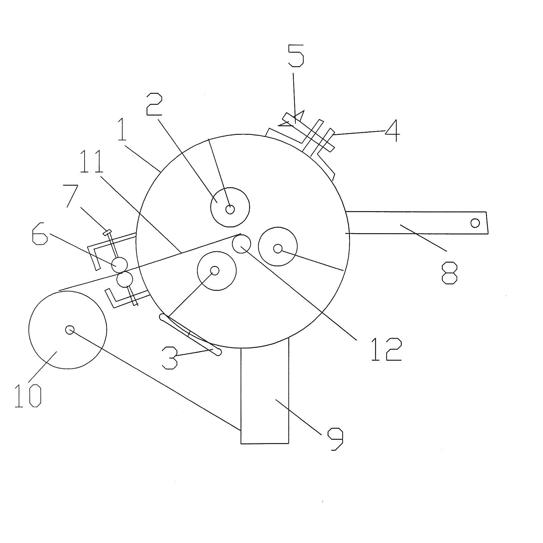 1  手摇式架空线修补缠绕器结构及特点           1.