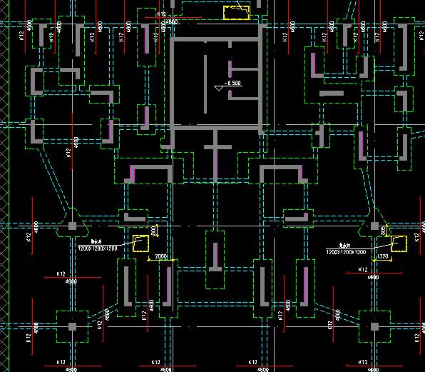 图3  转换层结构平面布置