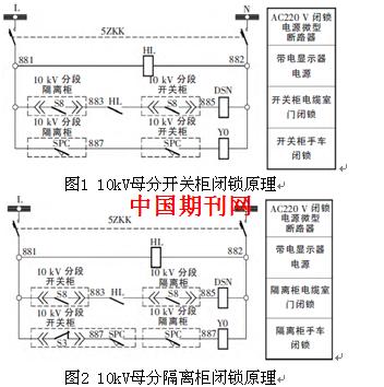 10kv配电装置母分间隔防误回路设计缺陷及改进