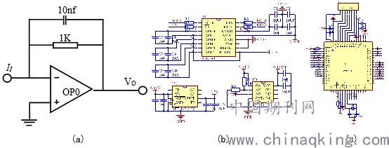电路原理图如图(b)所示,ad7799的模拟电源由ref192输出的2.