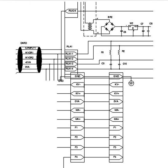 可能是千伏反馈检查反馈电路用示波器测量kv+和kv