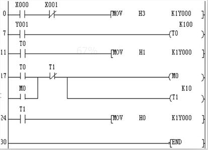 单按钮控制电动机plc接线图