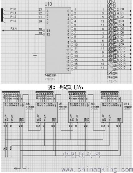 由于这种专用集成电路是集行控制,列控制和外围驱动于一体,使系统的