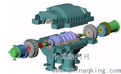 3离心式压缩机的结构紧凑,运转可靠           由于转动部件与静止图片