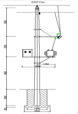 当电流从较长的接线脚