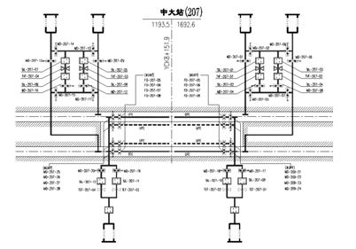 广州地铁原二号线全线共17个车站,在开通时全线设置有屏蔽门系统