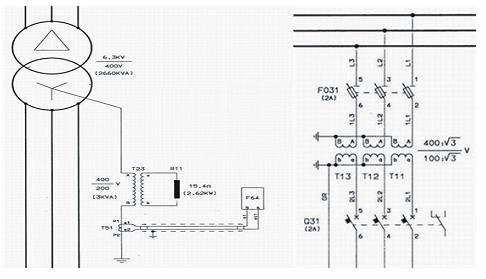400v电压互感器一次保险熔断故障查找与处理
