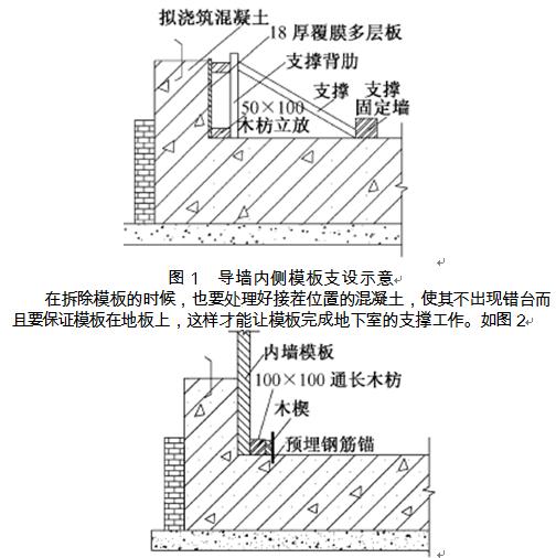 谈对混凝土结构模板施工中节点处理的分析