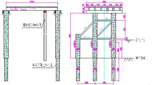 下部结构为钢管桩加型钢承重梁结构