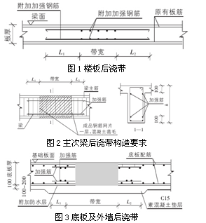 对框架梁位置施工缝的处理