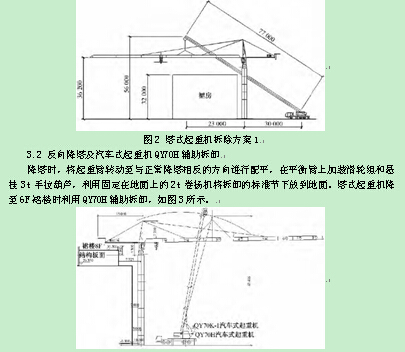 塔式起重机拆卸方案比选及施工