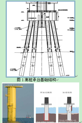 設計施工技術相對比較成熟;單樁結構采用直徑5-7m鋼管樁一次性打入,施