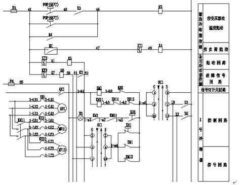 东芝变压器有限公司配套生产的强油风冷却器控制系统共4组.