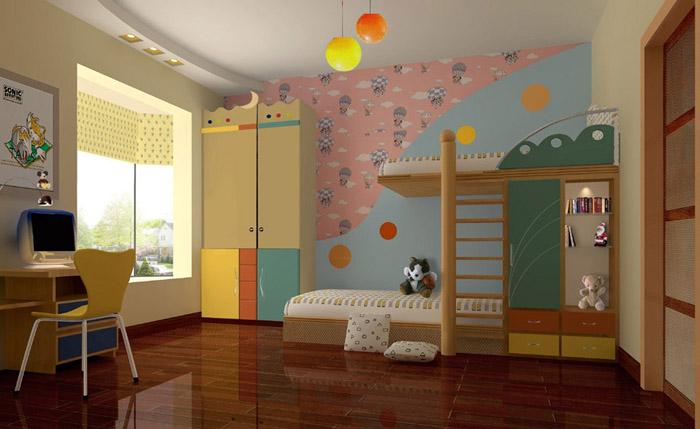 经典儿童房装修效果图; 儿童房.