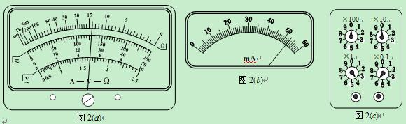 ⑶将图l中多用电表的两表笔短接