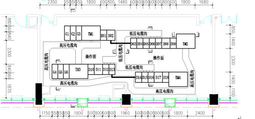 某化工厂降压变电所主接线图