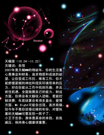 天蝎座星空图纹身分享展示